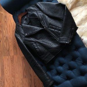 TOPSHOP Black Biker Jacket